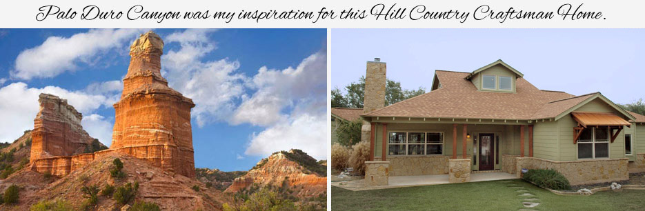 Palo Duro Canyon inspiration for my Craftsman Home